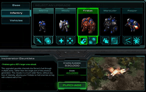 Starcraft 2 Upgrades