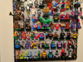 completed lego minifig wall close-up 3